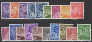 SEYCHELLES SG174/88 1954 DEFINITIVES MNH