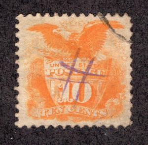 US 1869 Scott # 116 Used.