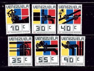 Venezuela 1156-61 MNH 1976 Nationalization of Oil Industry