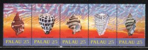 Palau # 212-16 (216a) ~ Strip of 5 ~ Shells ~ Mint, NH