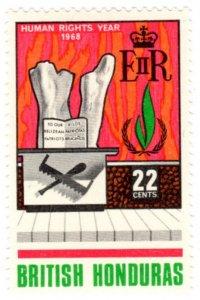 British Honduras Scott 212-213 (1968: International Human Rights Year)