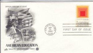 1980, American Education, Artcraft, FDC (D15007)
