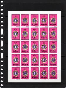 Guinea 1992 Lions Intl.75th.Anniv.Mini-Sheetlet(25) IMPERFORATED Mi#1374/1375