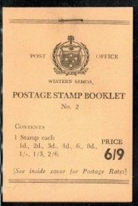 Western Samoa  1964 SG SB 7 6/9 booklet, fresh,  Cat.  £48