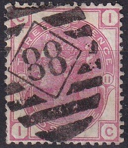 Great Britain #61  Plate 11  F-VF Used  CV $50.00 (Z9102)