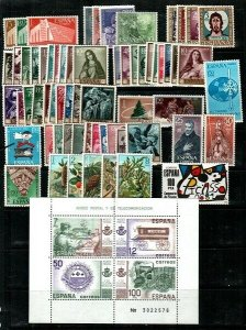 Spain Mint NH small collection of sets and S/S (Catalog Value $106.00)