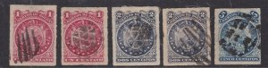 BOLIVIA ^^^^1887 #24-26   SUPERB   Imperfs  CLASSICS $$@ lar 2009boli