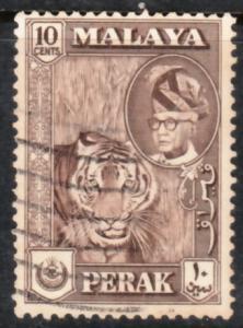 Malaya Perak 1957 Sc 132 10c Used