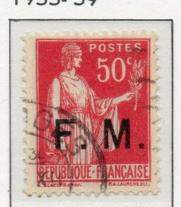 France 1933-39 Military Frank Stamps Issue Fine Used 50c. Optd 313393
