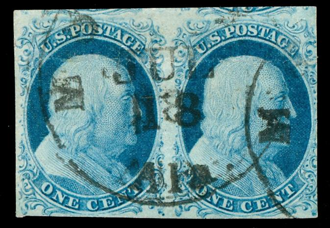 #7 Used... Pair...  SCV $275.00... VF/XF... Neat, light cancel