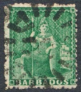 BARBADOS 15 USED, 1/2 GREEN