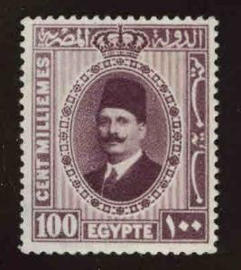 EGYPT Scott 146 MH* from 1927-37 King Faud set, disturbed gum see back scan