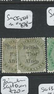 BRITISH EAST AFRICA (P2407B) QV ON INDIA 4A  SG 55-55A   MOG