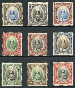 Kedah SG60/8 1937 Sultan Abdul Halimshah Set M/Mint (light brown gum)