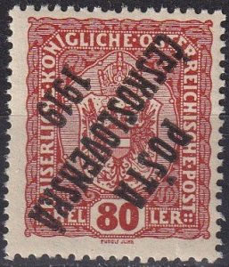 Czechoslovakia #B14 Overprint Inverted Error (Z5032)