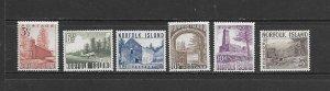 NORFOLK ISLAND #13-18  MNH