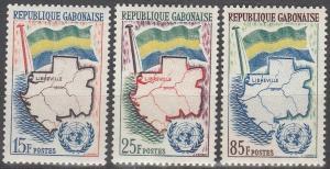 Gabon #151-3 MNH F-VF CV $2.80 (SU2964)