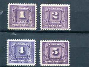 Canada #J6-9 Mint NH VF   - Lakeshore Philatelics