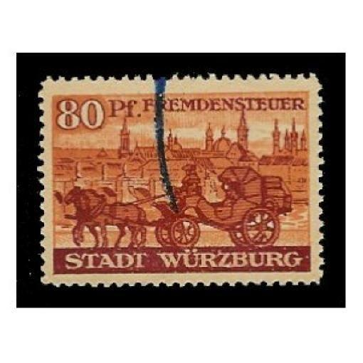 Germany - Wurzburg 80 pfg Municipal Revenue Stamp