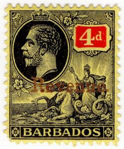 (I.B) Barbados Revenue : Duty Stamp 4d