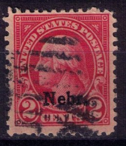 US SCOTT #671 NEBR. OVERPRINT Stamp VF