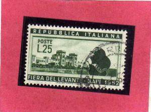 ITALIA REPUBBLICA ITALY REPUBLIC 1952 XVI 16 FIERA DEL LEVANTE DI BARI 16TH F...