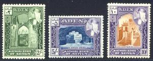 HALF-CAT BRITISH SALE: ADEN / KATHIRI #29-38 Mint NH