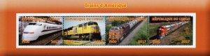 Congo 2017 High Speed Trains Railways Transports 4v Mint Sheet. (#29)