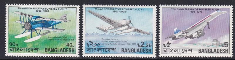 Bangladesh # 149-150, 152, Airplanes, Short Set, NH