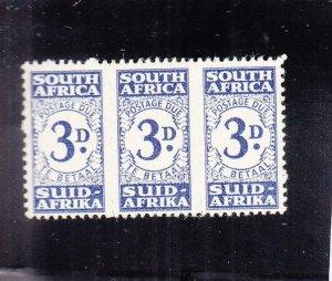South Africa: Sc #J33, MH (34450)