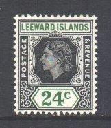 Leeward Is Scott 142 - SG135, 1954 Elizabeth II 24c MH*