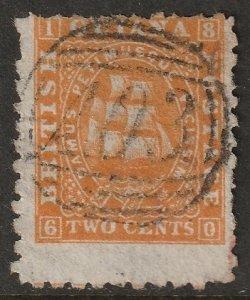 British Guiana 1866 Sc 51 used orange