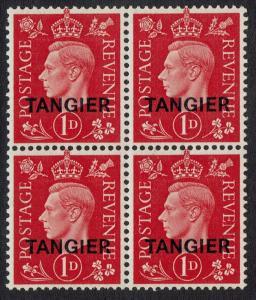 TANGIER 1937 KGVI 1D BLOCK MNH **