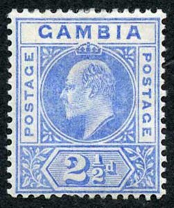 Gambia SG48 2 1/2d ultramarine wmk CA m/mint
