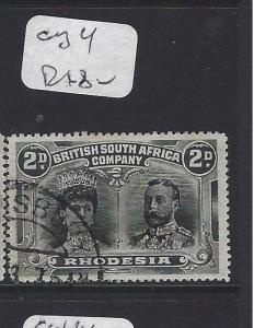 RHODESIA (P0109B) DOUBLE HEAD  2D  VFU  COPY 4