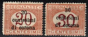 Austria #NJ10-11  Unused CV $8.00 (X7064)