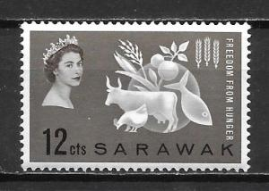 Sarawak 212 Hunger single MNH