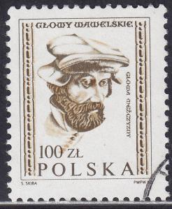 Poland 2537 USED 1982 Wawel Castle Wooden Head 100zł
