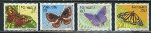 VANUATU  BUTTERFLIES SCOTT #532/35  MINT NEVER HINGED SCOTT VALUE $8.95
