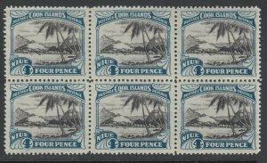 Niue, Scott 64 (SG 66), MNH block of six