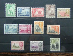 Gold Coast 1948 set to 10s MM SG135 - SG146