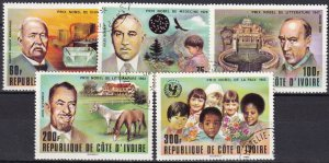 Ivory Coast #460-64  F-VF Used  CV $2.60  (Z4956)