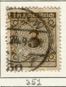 GERMANY;  1923 early Inflation period issue used 3pf. value