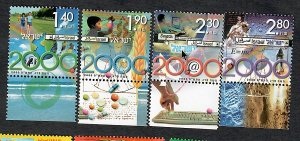 Israel #1385 - 1388 Millennium MNH Singles with tabs
