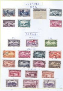 LEBANON USED  AIRMAIL SCV $105.45  STARTS @25% OF CAT VALUE