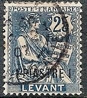 France-Off. Turkey 34 Used 1903 3pi on 25c Rights of Man