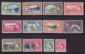 Trinidad & Tobago-Sc#72-83-unused light hinged QEII set-1953-