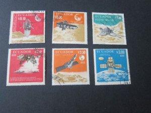 Ecuador 1966 Sc 758-758E space set FU