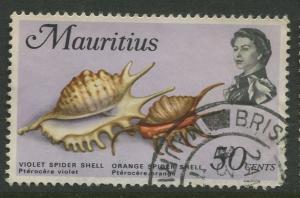 Mauritius -Scott 350 - Fish Definitive Issue -1969 - FU - Single 50c Stamp