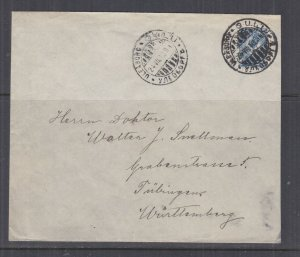 FINLAND, 1914 cover,  Russia 10k. ULEABORG to Germany.